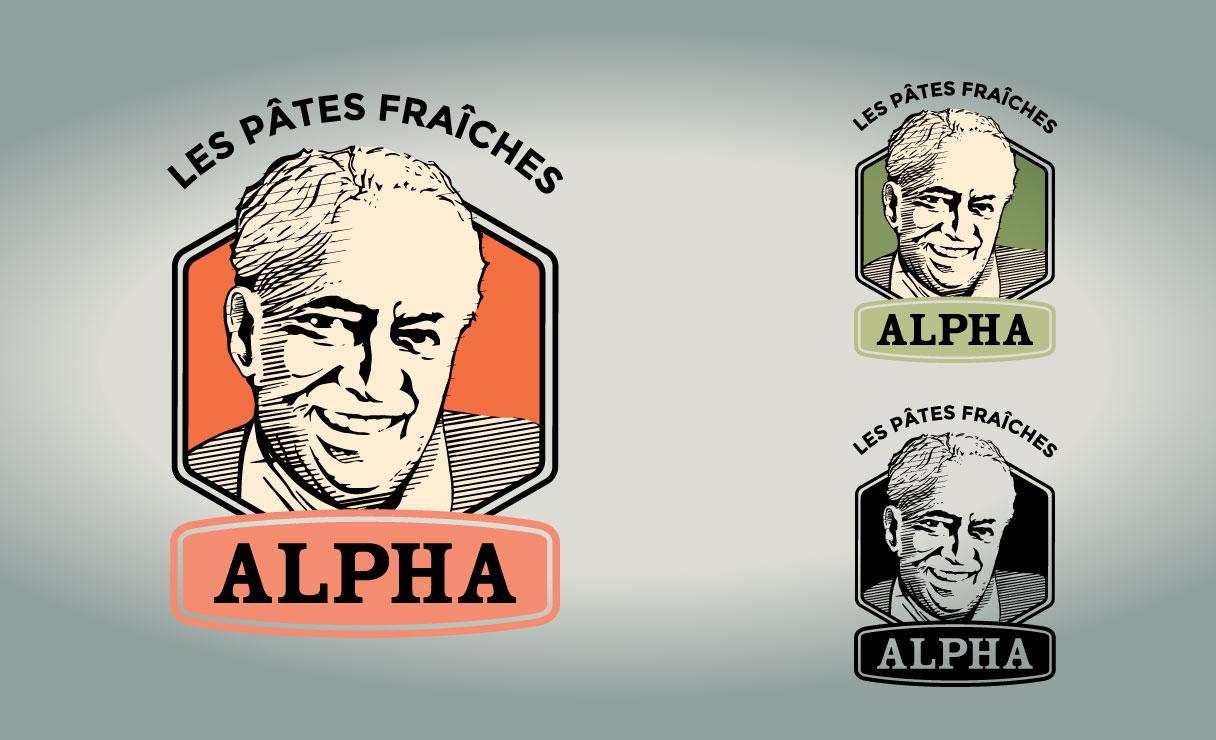 Logo pâtes fraîches Alpha