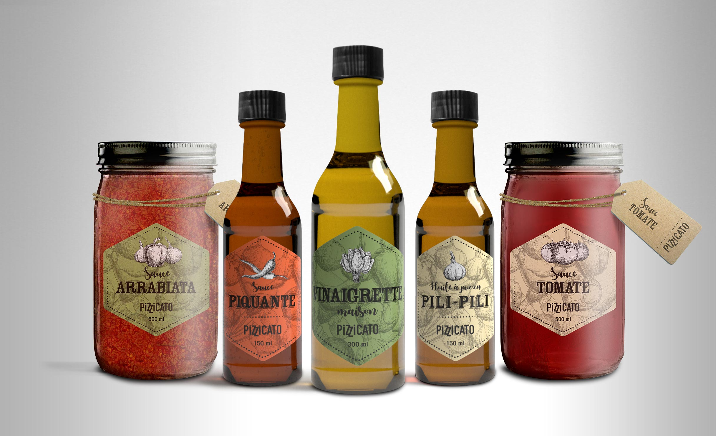 Emballages sauces Pizzicato