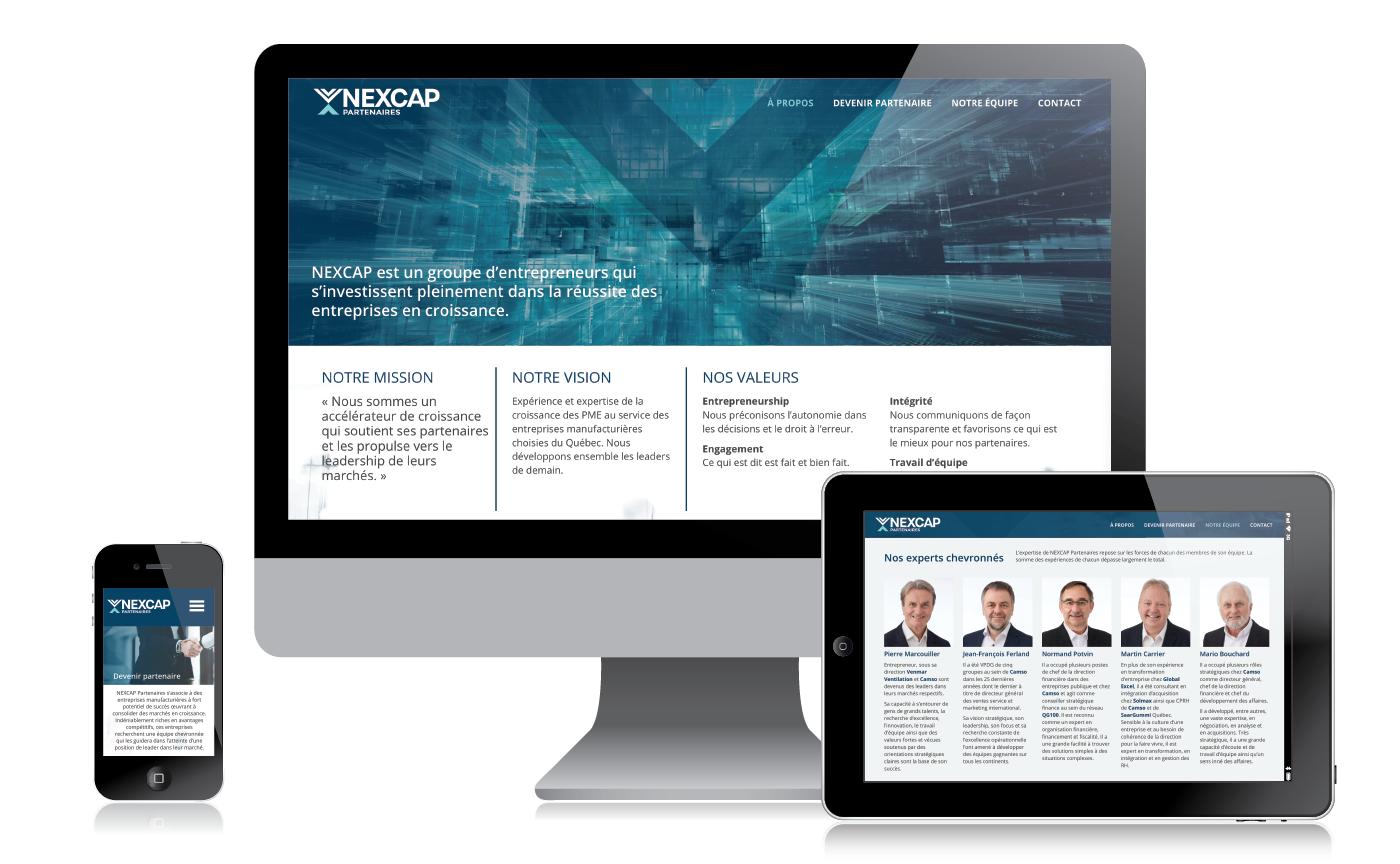 Site internet Nexcap Partenaires